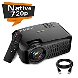 Projector , 2019 Newest ABOX A2 Native 720P Portable Home Theater LCD HD