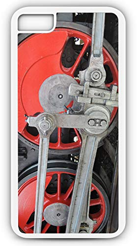 iPhone 7 Plus 7+ Case Train Steam Locomotive Transport Railway Wheels Customizable by TYD Designs in White Plastic
