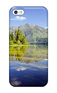 New Diy Design Mountains And Lakes For Iphone 5/5s Cases Comfortable For Lovers And Friends For Christmas Gifts