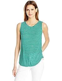 VELVET BY GRAHAM & SPENCER Women's Mini Stripe Knit Tank