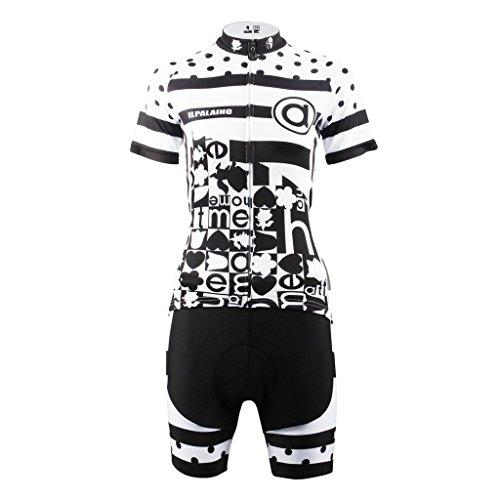 PaladinSport Women's Short Sleeve Perspiration Breathable Bike Clothing Set Asian Size XXXL