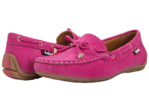 GLOBALWIN Women's Hot Pink Loafer Shoes 9 M US]()