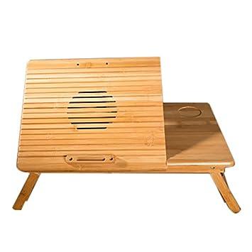 Mesa plegable Mesa de Ordenador portátil Cama Escritorio de Ordenador portátil Cama Plegable de bambú Sofá