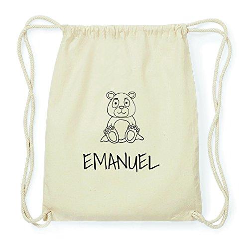 JOllipets EMANUEL Hipster Turnbeutel Tasche Rucksack aus Baumwolle Design: Bär YcqUvv