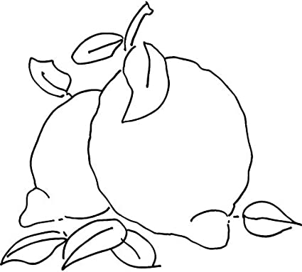 A8 Lemons Unmounted Rubber Stamp RS00020179