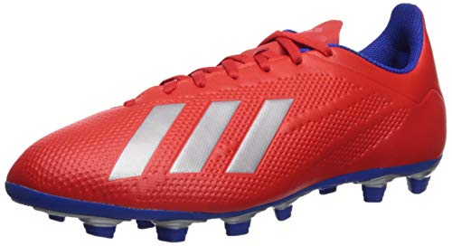 adidas Men's X 18.4 Firm Ground, Active red/Silver Metallic/Bold Blue 8 M US