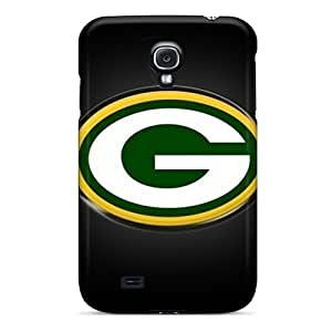 Shock Absorption Hard Cell-phone Cases For Samsung Galaxy S4 With Unique Design Trendy Green Bay Packers Skin JohnPrimeauMaurice