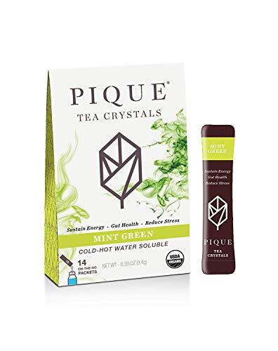 Pique Tea, Tea Crystals Mint Sencha Organic, 14 Count