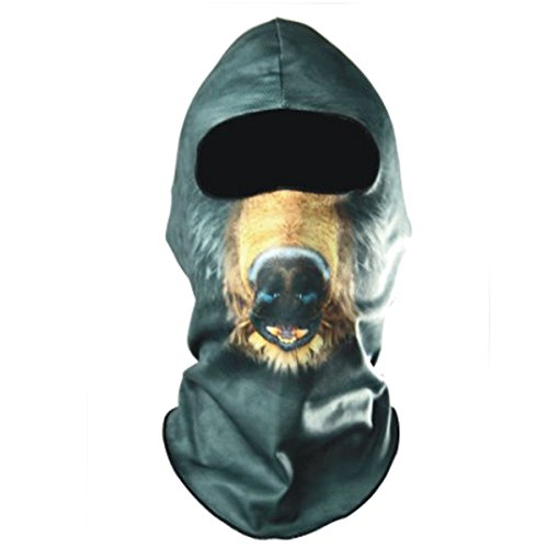 New CAMTOA Motorcycle Cycling Face Mask Breathable Anti UV Face Mask Headgear Hats Lycra Balaclava Full Face Mask Neck Hood Animal Styles for Outdoor Motorcycle Bike Cycling Sports Skiing Fishing Climbing for cheap