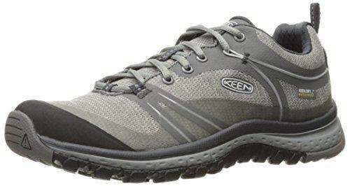 KEEN Women's Terradora Waterproof Hiking Shoe, Neutral Gray/Gargoyle, 8 M US