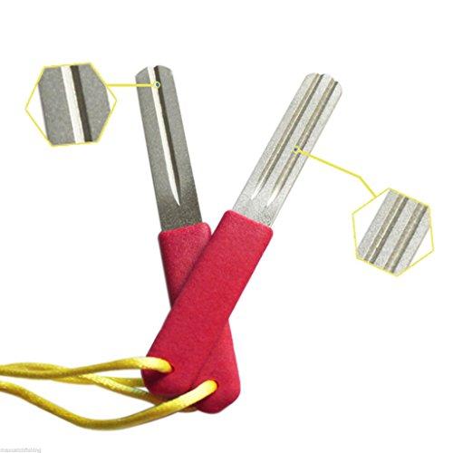 Diamond fishing hook file sharpener double side hook hone for How to sharpen fishing hooks