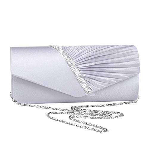 Purse Envelope Shoulder Bag Prom Crossbody Party Bridal Women Evening Silver Rhinestone Handbag Handbag 1ExvwwOq0