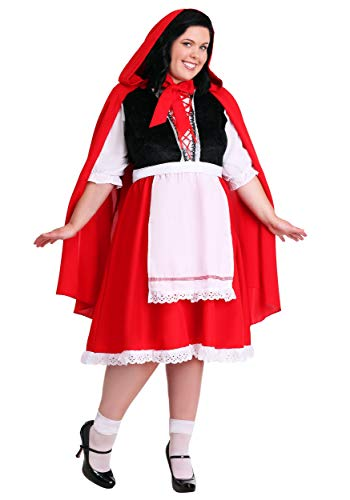 Plus Size Little Red Riding Hood Costume - 2X