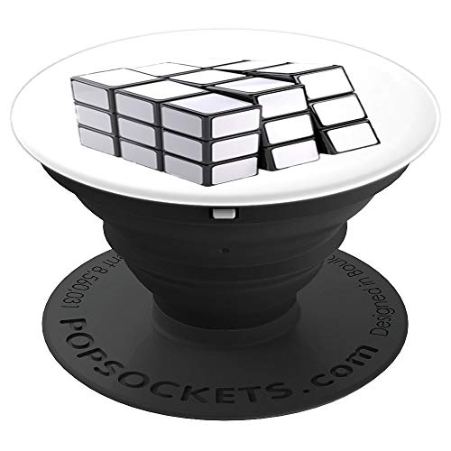 Rubiks White Cube Adult,Maths Solver Costume For all - PopSockets Grip and Stand for Phones and Tablets