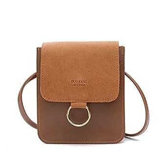 Y&D Bag For Women,Brown & Gold - Crossbody Bags