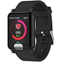 Opta SB-080 Aluminium-Alloy Heart Rate Monitor Smart Watch (Black)