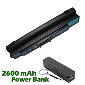 Battpit Bateria de repuesto para portátiles Acer Aspire 1810TZ-4140 (6600mah / 71wh) con 2600mAh Banco de energía / batería externa (negro) para Smartphone