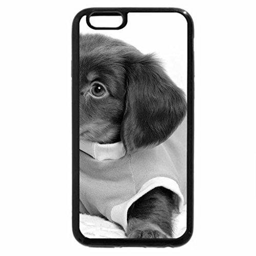 iPhone 6S Case, iPhone 6 Case (Black & White) - Dog In Tees.