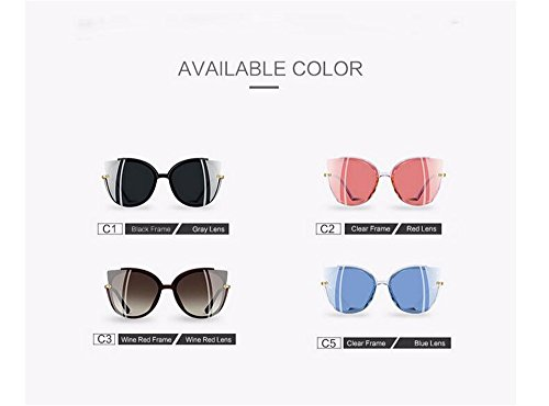 Mujer polarizadas de UV400 sol sol Blue ojo gato gafas de de marco Moda Dama único gafas 1qpFwnFA