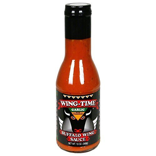Wing Time Garlic (Wing Time Garlic Buffalo Sauce, 13 Oz (Case of 6) by Wing-Time)
