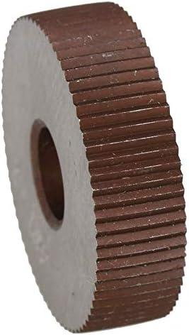 NO LOGO Rändelwerkzeug 2ST Wälzfräser Stärke 0,5 mm Rad knurlStraight Korn HSS Rad Knurled Werkzeugmaschinen Zubehör Dreh Prägeradabschnitt Hebt