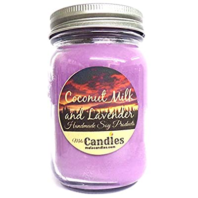 Coconut Milk & Lavender 16 Ounce 100% Soy Candle - Handmade in USA: Home & Kitchen