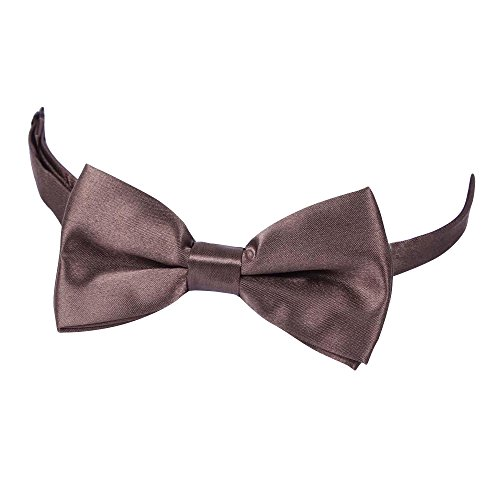 Tie Verlike Polyester Wedding Fashion Suits Bowtie Plain Tie Brown Tied Bow Fashion Men's Pre S71SnqrTZW
