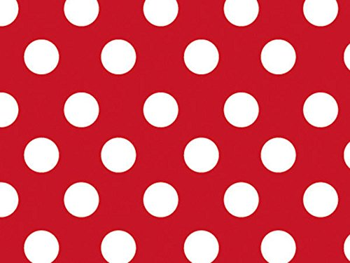 Cherry Dots Red With White Dots Wrapping Paper Roll - 24 Inch X 16 ()