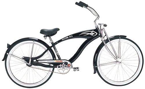 Micargi GTS Beach Cruiser Bike Black Falcon 26-Inch [並行輸入品] B06XFV8RLH