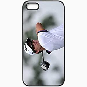 Personalized iPhone 5 5S Cell phone Case/Cover Skin Adam Scott Sporty Black