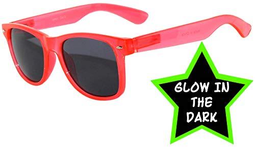 Fashion Style Red Frame Vintage Smoke Lens Sunglasses Retro 80's -