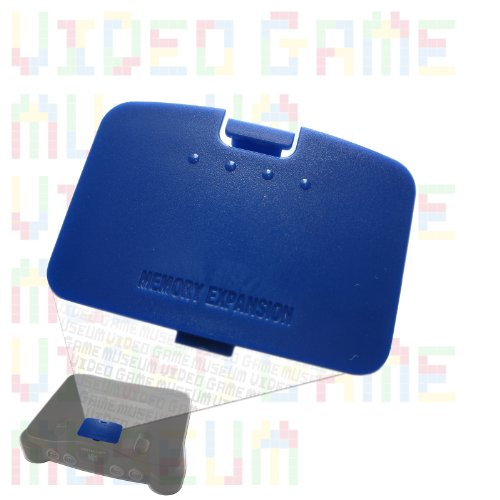 PIKACHU BLUE Replacement Cover for Nintendo 64 System's Memory Expansion Pak Lid