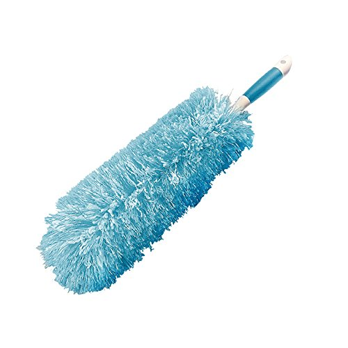 Everclean Microfiber Fluffy Duster with Comfort Grip Handle, Aqua/White (6052) by EVERCLEAN