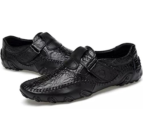 Men's Leather Shoes Slip On Loafer Flats Driving Shoes Mocassins Comfortable Octopus Boat Shoes Black lcyzw4cxSe