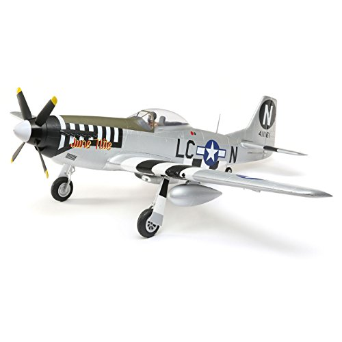 (E-flite P-51D Mustang 1.2m BNF Basic RC Airplane: Electric RC Warbird with AS3X and Safe Select,)