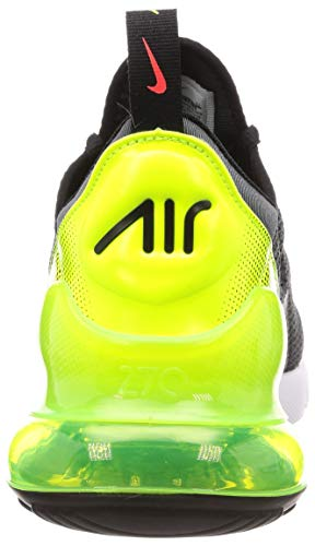 Nike Mens Air Max 270 SE Running Shoes Anthracite/Volt/Black/Bright Crimson AQ9164-005 Size