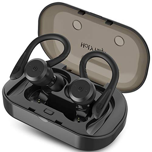 HolyHigh Sports Wireless Earbuds Bluetooth 5.0 IPX7 Waterproof Sweatproof in Ear Mini Stereo Sound Wireless Earphones Headphones with Charging Case Micro for Running Sport Gym for iOS Android (Best Cheap Earbuds For Running)