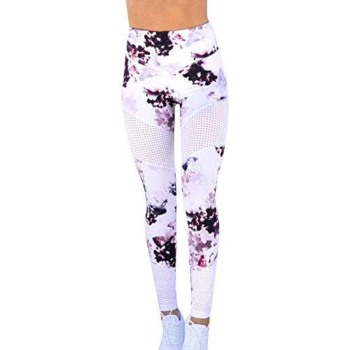iLUGU Womens Print Sports Gym Yoga Pants Carpenter Running Yoga Fitness Leggings Athletic Work Out Trouser -