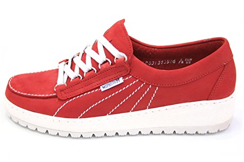 Mephisto 7103 Red Women's Lady Flats Lace up 07zqCA