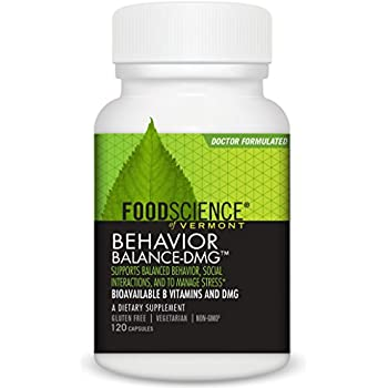 FoodScience of Vermont Behavior Balance-DMG Capsules, Behavior Support Supplement, 120 Count