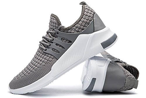 Men's Shoes Casual Flyknit Gray Sneakers Breathable JiYe Fashion Running t7wdBnOx