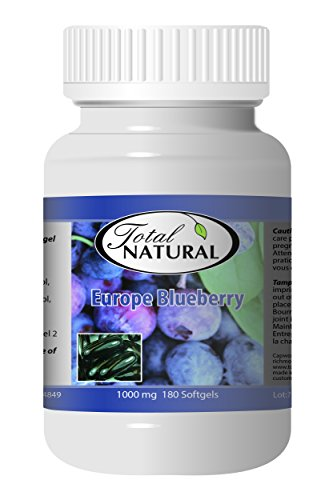 Europe Blueberry 1000mg 180s - [5 bottles] Vision Care by Total Natural