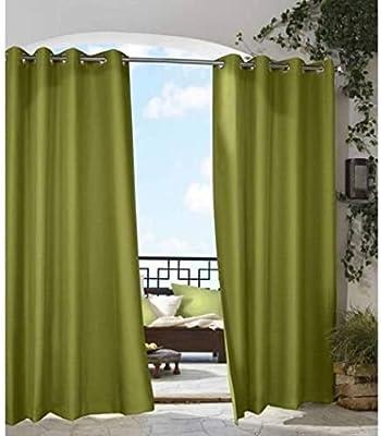 1Pieza 96 al aire libre Gazebo de color sólido verde cortina de ...