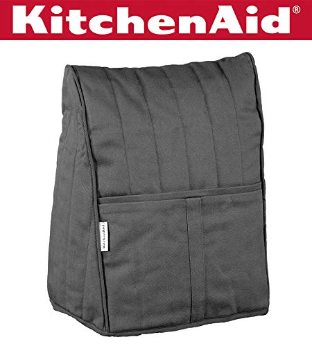 KitchenAid KMCC1OB Stand Mixer Cloth Cover - Onyx Black (Kitchen Aid Lift Mixer Cover)