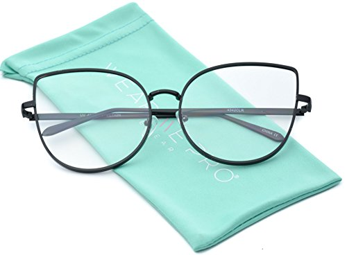 WearMe Pro - Clear Thin Frame Oversized Delicate Non- Prescription - Clean Frames Glasses