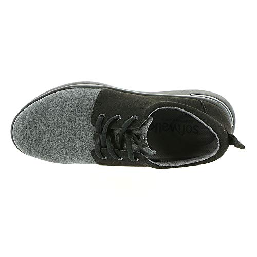 Lycra microfiber Mujer grey Black Softwalks1807 relax IYqFOO