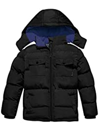 Wantdo Boy's Quilted Winter Coat Down Style Hooded Jacket