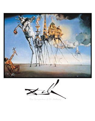 The Temptation of St. Anthony - Poster by Salvador Dali