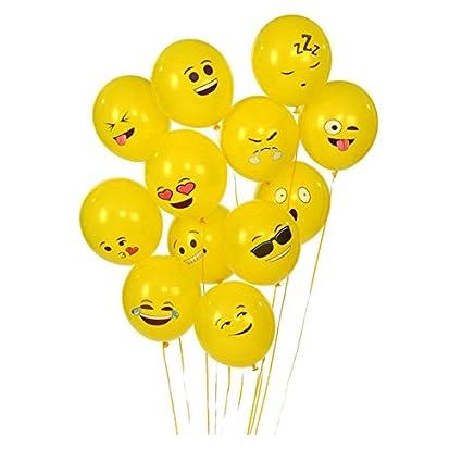 10 unids originales globos emoticonos amarillos alegres y decorativos para comuniones bodas bautizos barbacoas cumpleaños partys