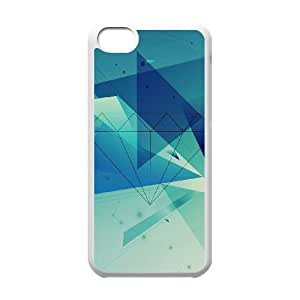 iPhone 5c Cell Phone Case White Diamond Blue Graphic Art TR2403859